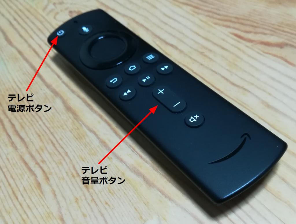 Fire TV Stickの付属リモコン
